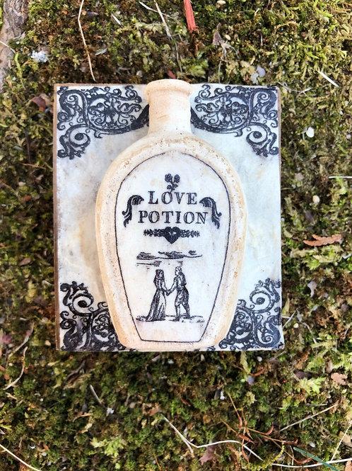 Love Potion Bottle Plaque
