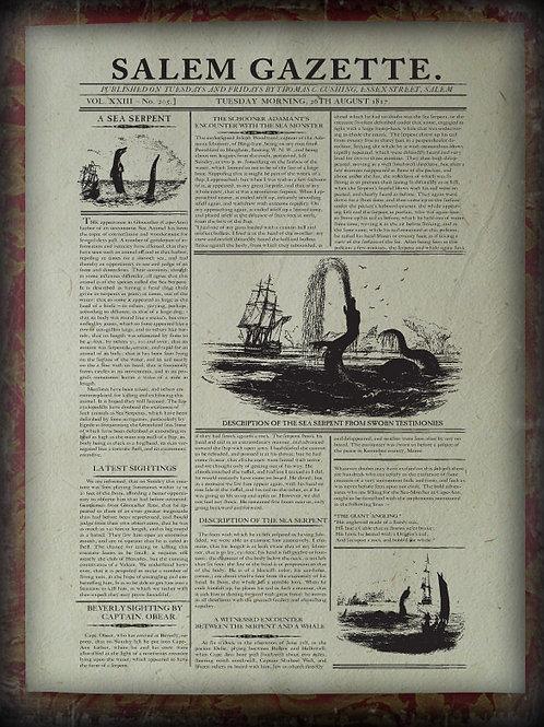 The Massachusetts Sea Monster. 1817