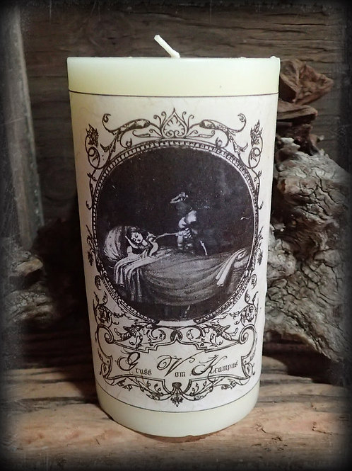 A Krampus Christmas! Candle