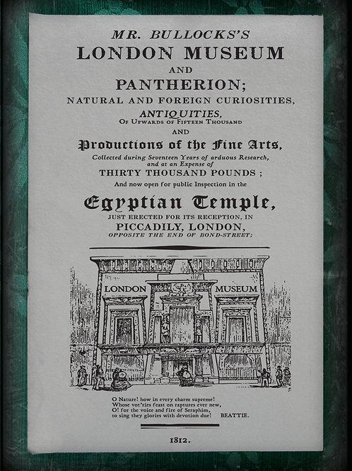 Mr. Bullock's London Museum. 1812