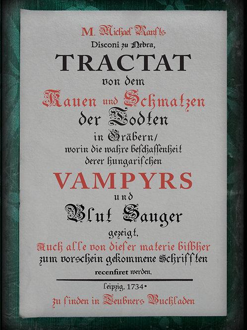 Tractat. Vampyrs. 1734