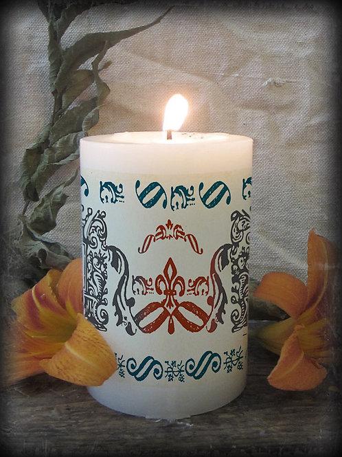 Letter Press Candle Design Three
