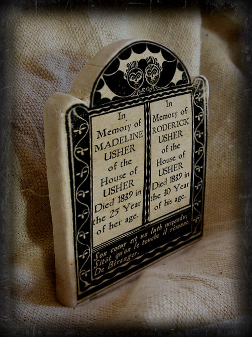 Gothic Literary Character Tombstone: House of Usher