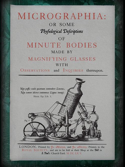 Micrographia. 1665