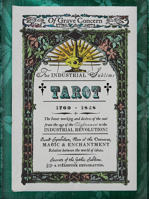 The Industrial Sublime Tarot: A Steampunk Exploration! 1760 – 1848. Title Card
