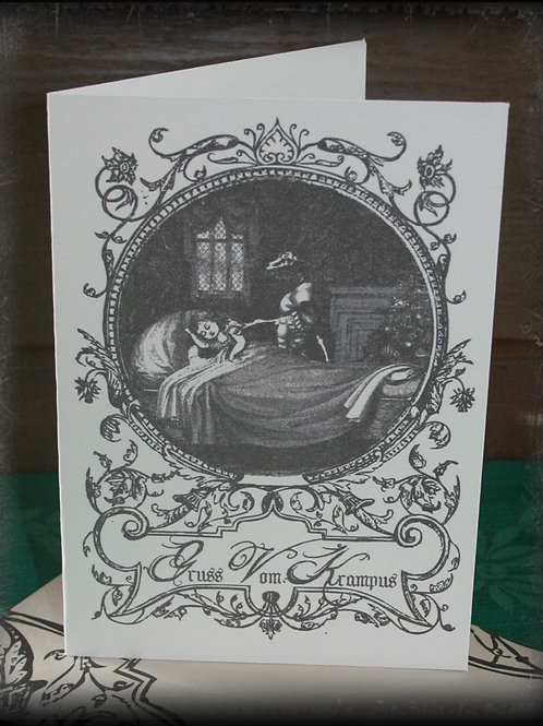 A Krampus Christmas! Greeting cards. Original Illustrations & Handmade Envelopes