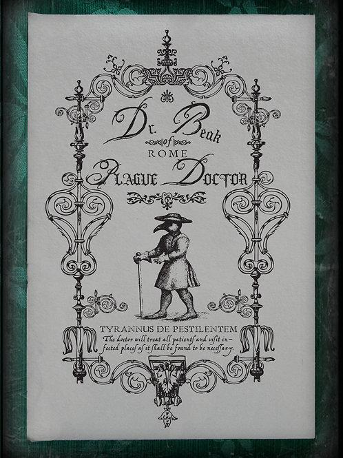 Public Notice for Dr Beak's Plague Water.
