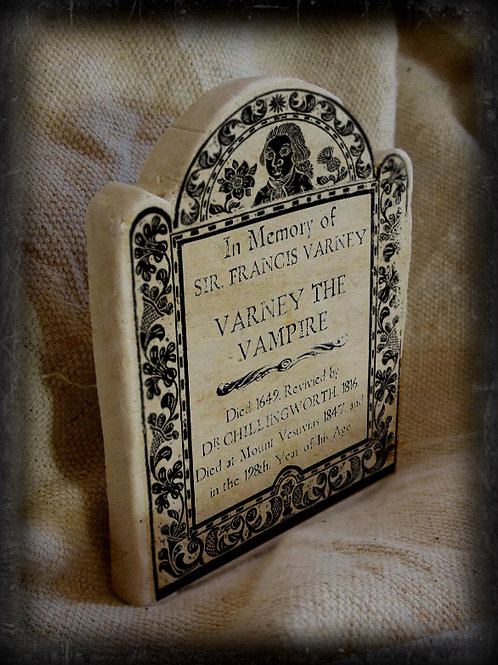 Gothic Literary Character Tombstone: Varney the Vampire