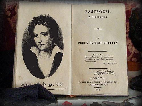 Percy Shelley. Zastrozzi. A Romance. 1810