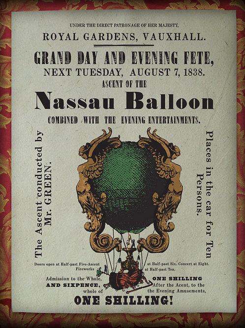 Accession of the Nassau Balloon. 1838