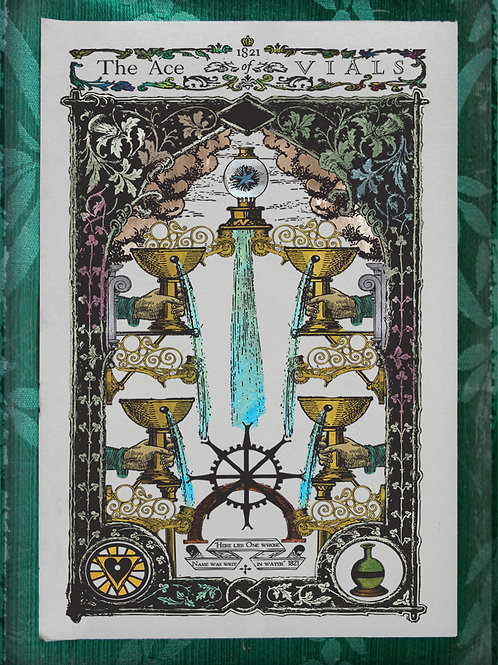 The Industrial Sublime Tarot: Minor Arcana: The Suit of Vials (Color)
