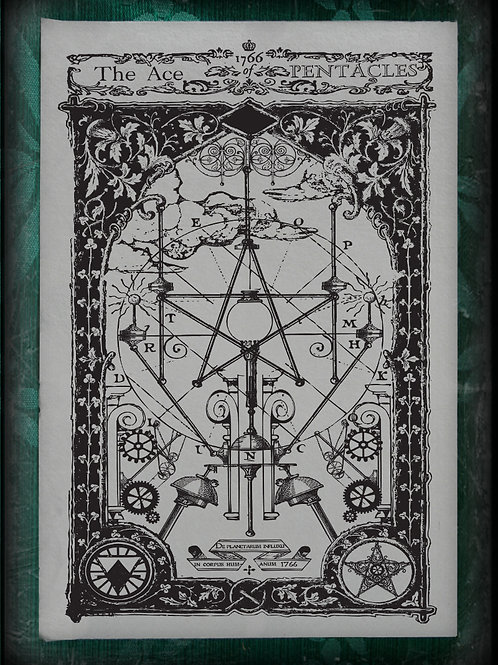 The Industrial Sublime Tarot: Minor Arcana: The Suit of Pentacles (Black & White