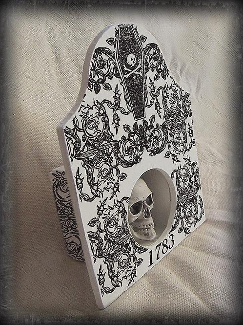 Ossuary Skull Box. Memento Mori. 1783
