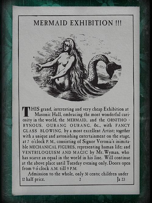 Mermaid Exhibition !!! The 'Feejee' Mermaid 1843