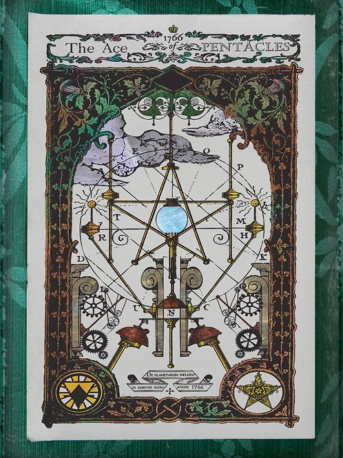 The Industrial Sublime Tarot: Minor Arcana: The Suit of Pentacles (Color)