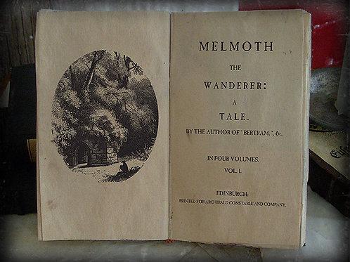 Charles Maturin. Melmoth the Wanderer.  1820