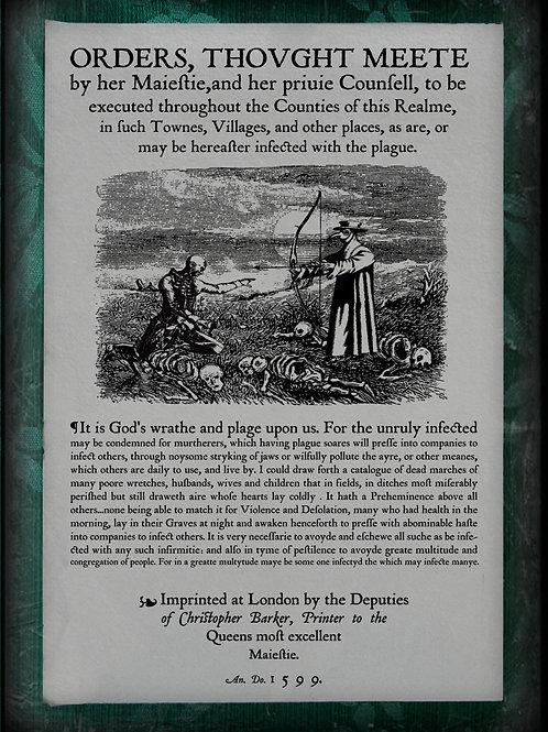 Medieval Public Notice of Zombie Plague. 1578