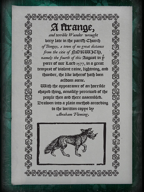 'A Strange and Terrible Wunder'. 1577