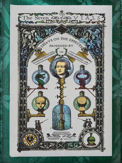The Industrial Sublime Tarot: Seven of Vials (Antoine-Laurent de Lavoisier)