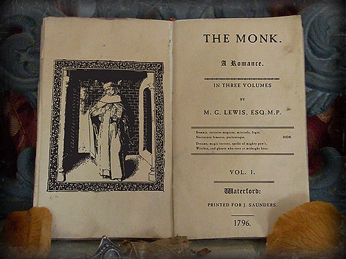 M.G. Lewis. The Monk. 1796