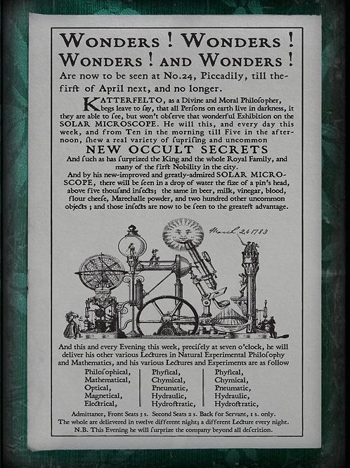 Wonders! Wonders! Wonders and Wonders! 1783