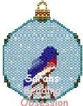 Bluebird Snowglobe Ornament id 12899