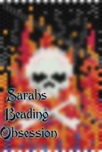 Flaming Skull Tubular Pen Cover id 14963