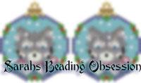 Husky Grey Snowglobe Earrings id 14362