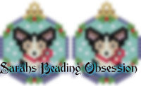 Tri-Color Corgi Snowglobe Earrings id 14731