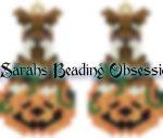 Schnauzer Liver Trimmed Pumpkin Earrings id 14587