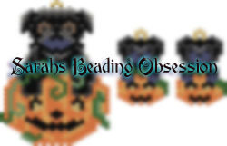 Black Pug Pumpkin Set id 15038