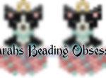 Black Chihuahua Easter Egg Earrings id 13933