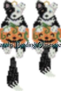 Border Collie Phantom Pumpkin Charm id 14018