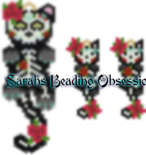Midnight Day of the Dead Female Wiggle Set id 14869