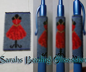 Red Dress Form Pen Cover id 16321