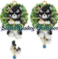 Husky Black Wreath Earrings id 14350