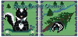Baby Skunk Sit Pouch id 10215