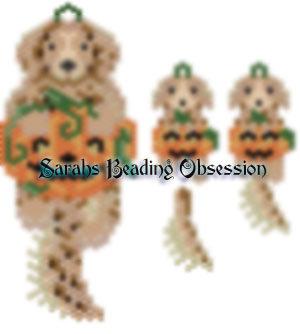 Golden Retriever Pumpkin Wiggle Set id 12988