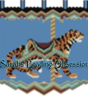 Carousel Bengal Tiger Tapestry id 3519