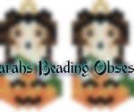 Sheltie Tri-Color Pumpkin Earrings id 14696