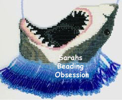 Nibble The Great White Shark Pendant (Loom) id 2372