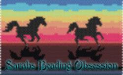 Sunset Stallions Mini Pouch id 16611
