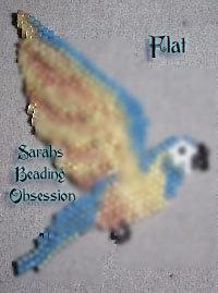 Blue Throated Macaw Flat Decoration id 13256