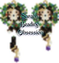 Sheltie Tri-Color Wreath Earrings id 15760