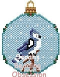BlueJay Snowglobe Ornament id 12901