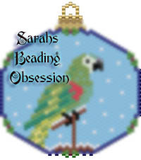 Hahns Macaw Snowglobe Ornament id 15406