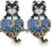 Malamute Love Earrings id 14124