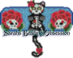 Midnight Day of the Dead Barrette Set id 14870