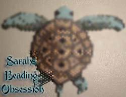Green Sea Turtle Flat Pendant id 4305