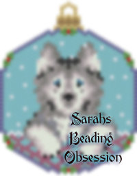 Husky Grey Snowglobe Ornament id 14361